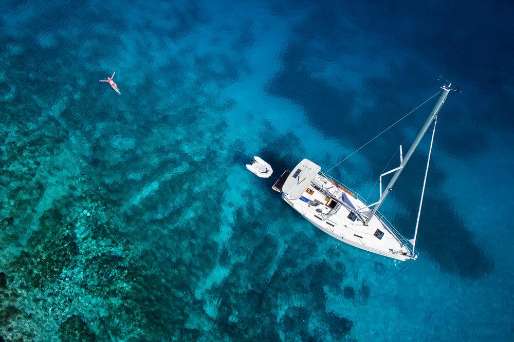 Plavba na jachtě