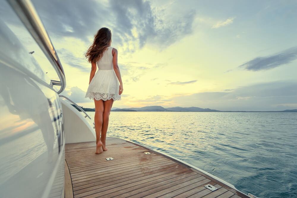 Romantika na jachtě