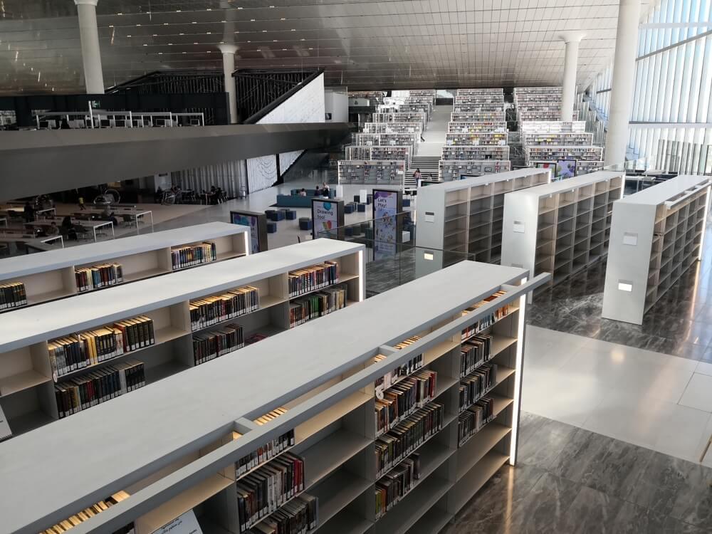 Vnitřní prostor knihovny