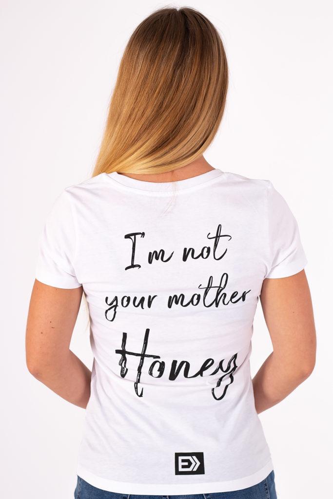Dámské tričko HONEY bílé zezadu