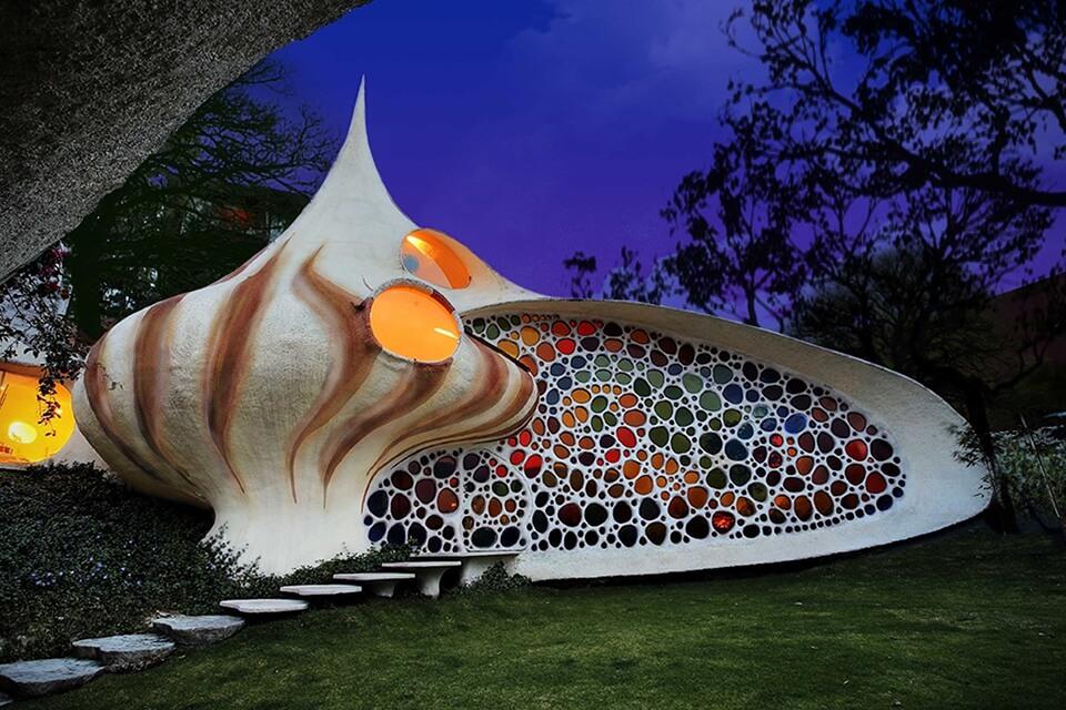 Dům ve tvaru mušle