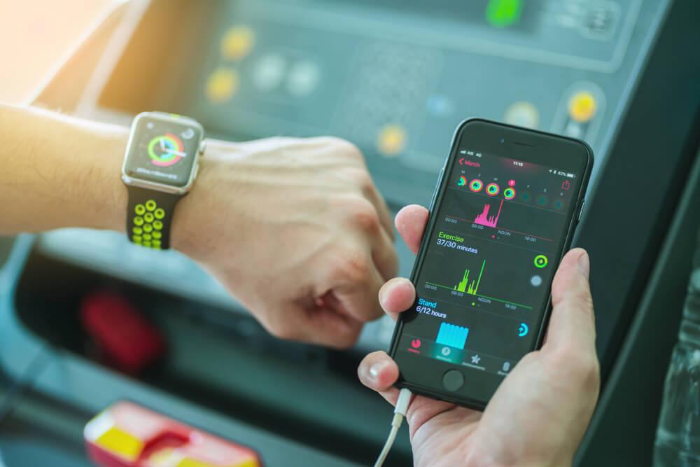 Apple watch při sportu