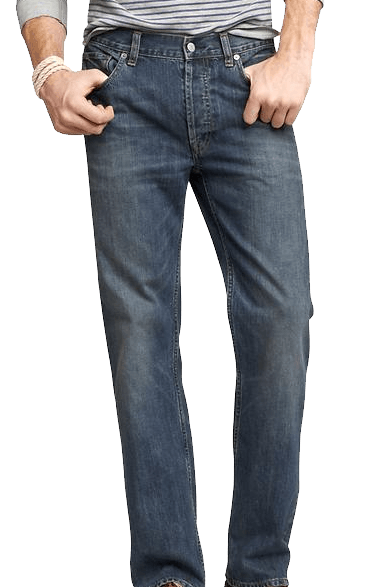 džíny typu straight