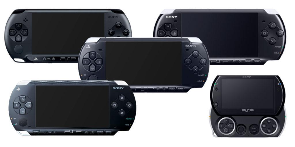 Objevilo se celkem 5 různých modelů PSP