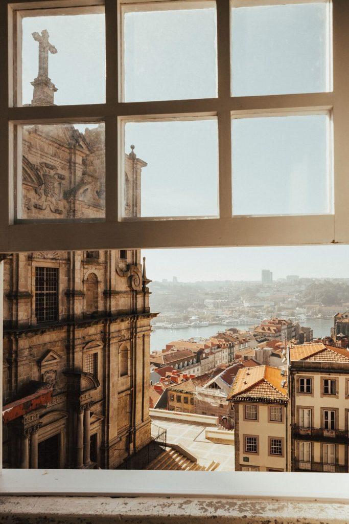 Výhled z okna na Porto