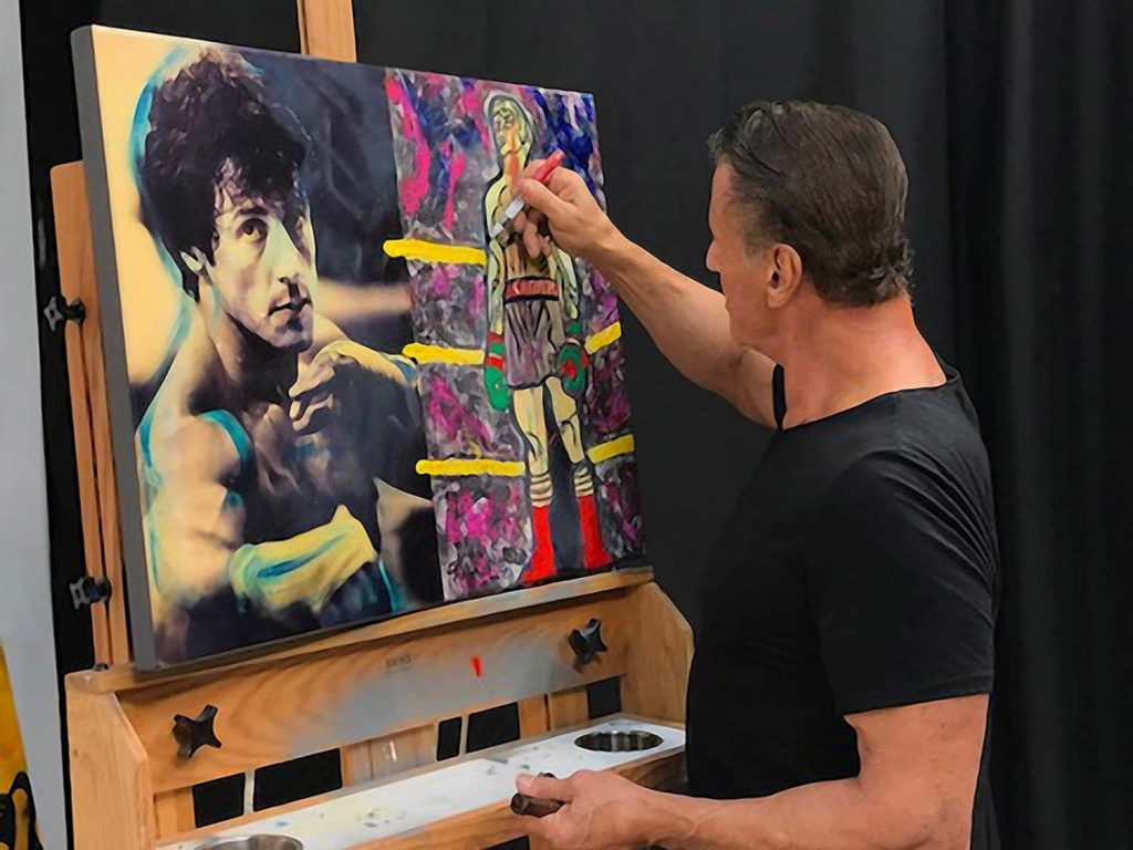 Sly Stallone a jeho vášeň - malba
