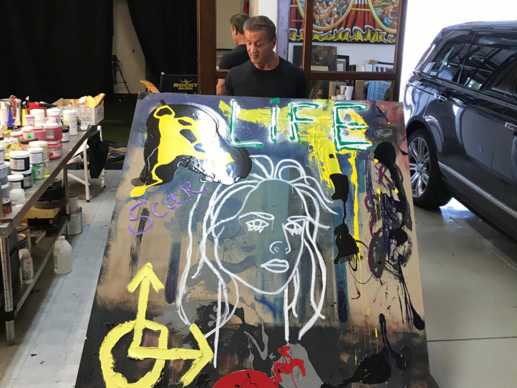 Sylvester Stallone a jeho obraz Scar