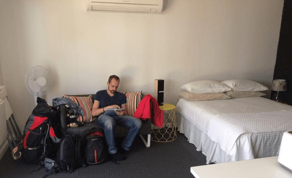 Naše první ubytování v Sydney