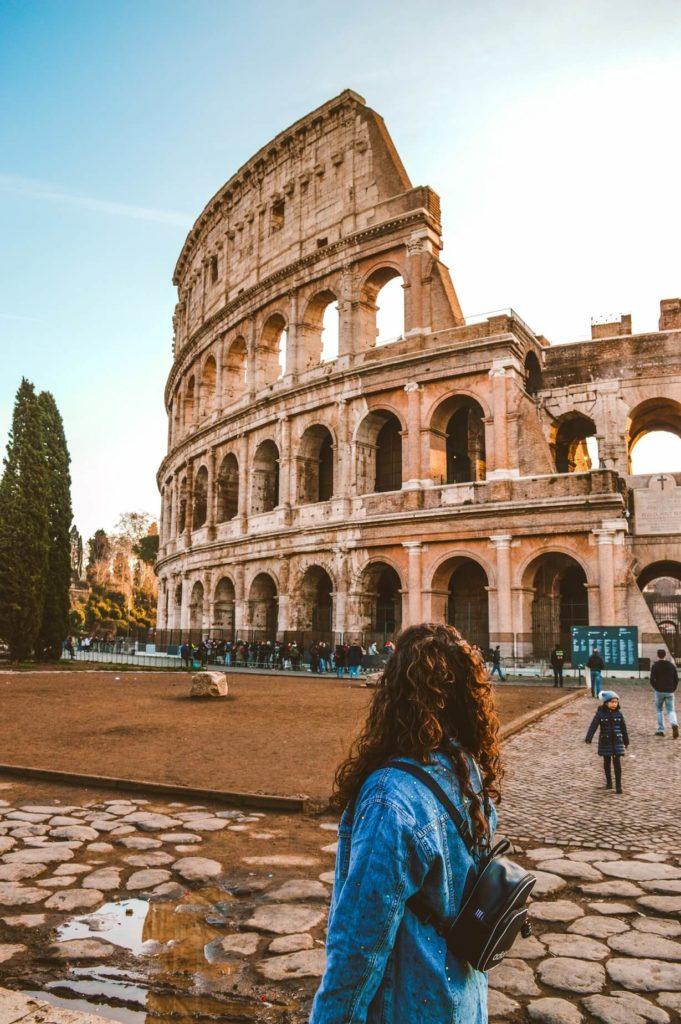 Římské koloseum zvané také Flaviovský amfiteátr