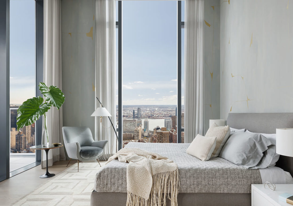 ložnice v nejdražší rezidenci new york
