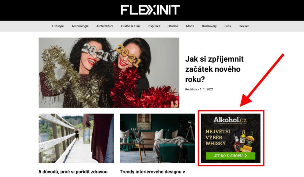 Bannerová reklama na Flexinit.cz