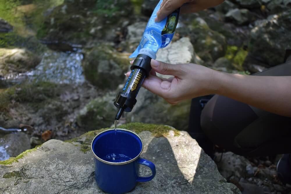 Malý filtr na vodu