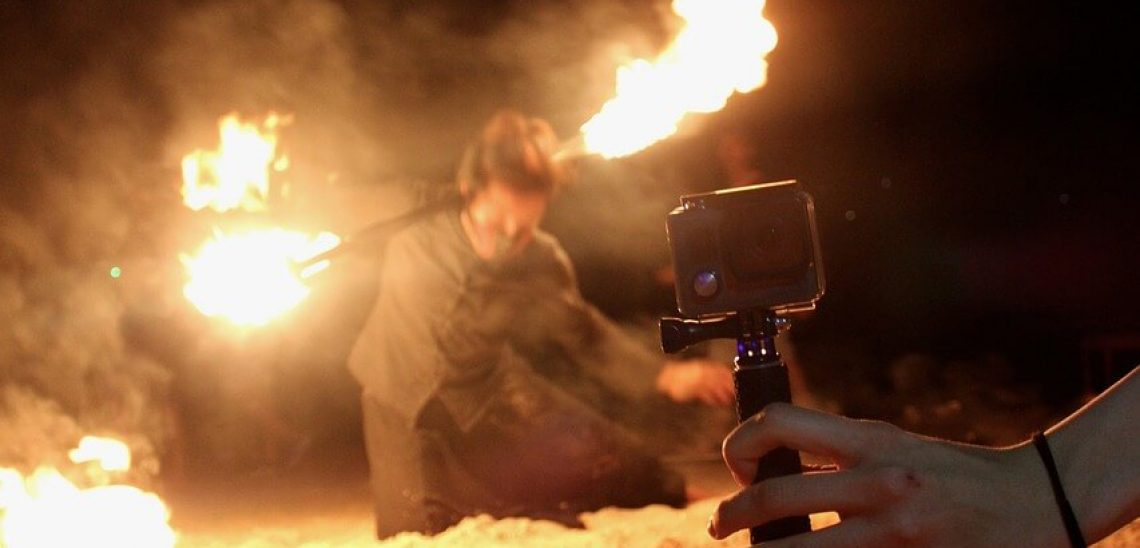 GoPro a fire show
