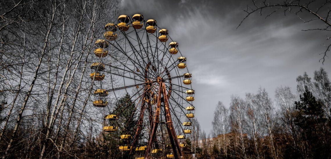 Opuštěné kolo v Černobylu
